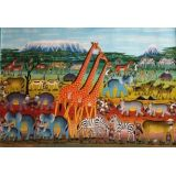 BAVON MROPE, Safari XXL se třemi žirafami / Safari XXL with Three Giraffes, 130x90 cm